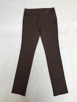 Pantalón Mentha&Chocolate marrón tela tipo neopreno, similar a legging gruesa. Pretina 76cm Talla 28 foto 1