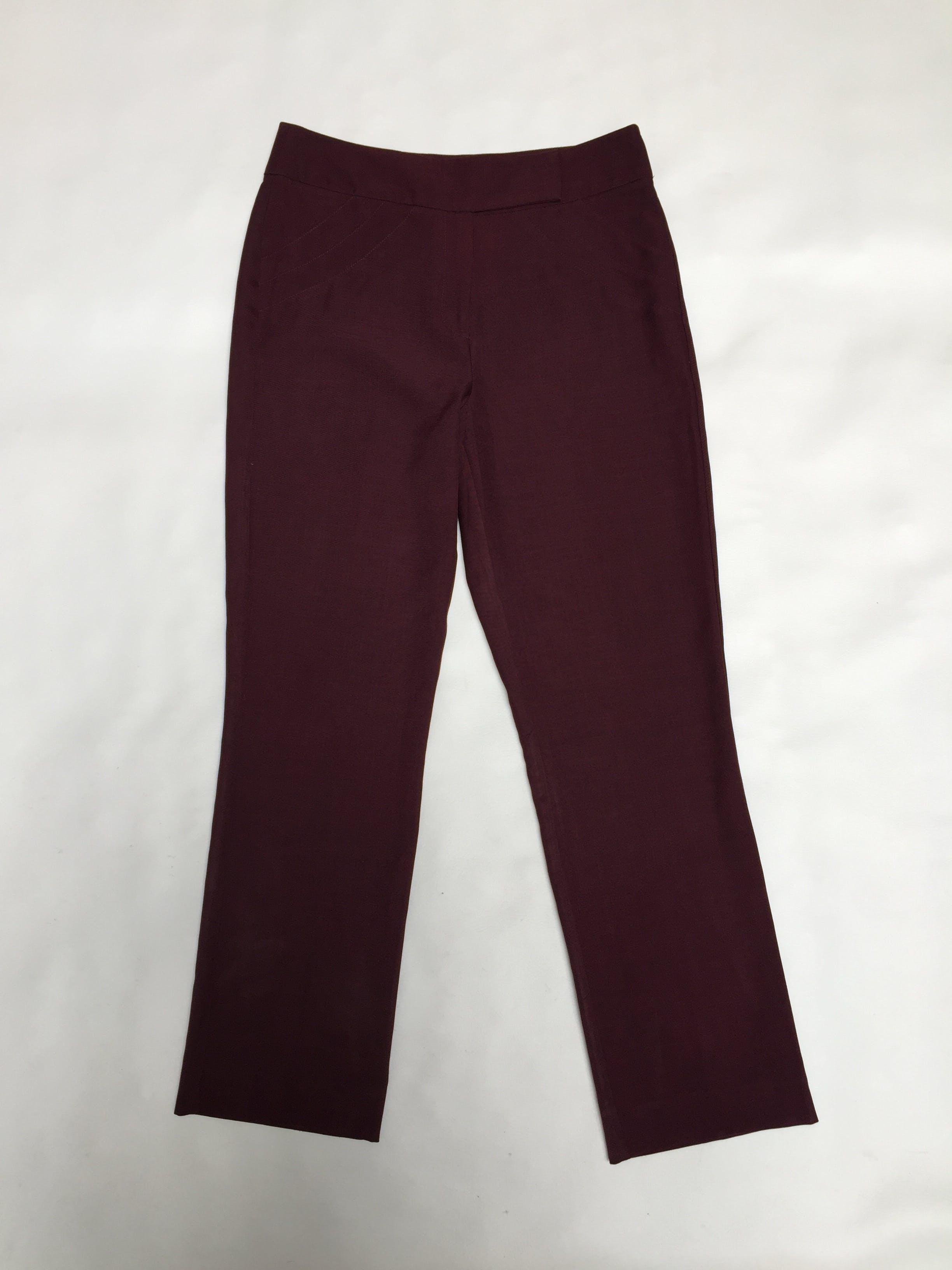 Pantalón Apology a la cintura, pespuntes laterales, corte recto, tela tipo sastre. Arma lindo! Pretina 80cm Talla 30