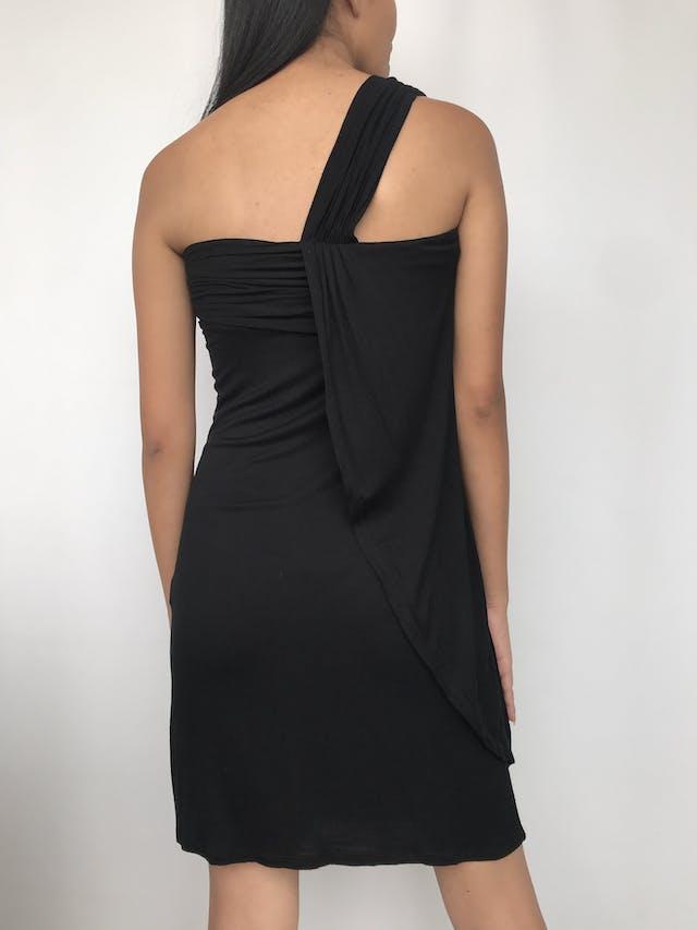 Vestido Basement de un solo hombro, drapeado en el pecho Talla S foto 2