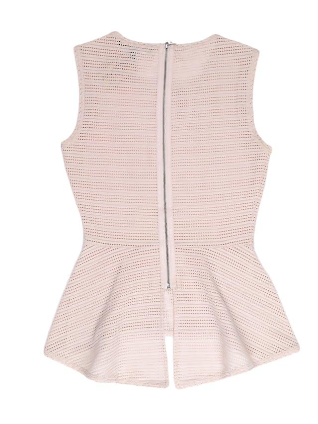 Blusa peplum BCBGMaxazria tela palo rosa calada con cierre en la espalda. Un clásico de la marca ¡Hermosa y sentadora! Precio original S/ 350 foto 2