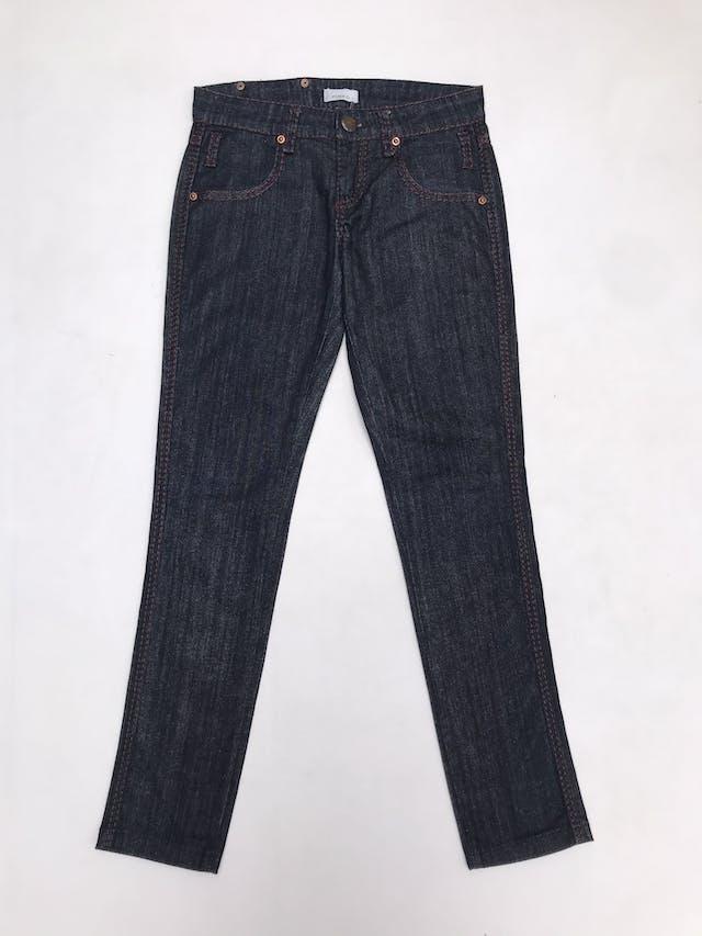 Pantalón jean Pinko azul con costura rojas, 98% algodón.. Precio original S/ 370 foto 1