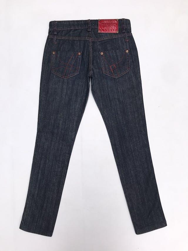 Pantalón jean Pinko azul con costura rojas, 98% algodón.. Precio original S/ 370 foto 3