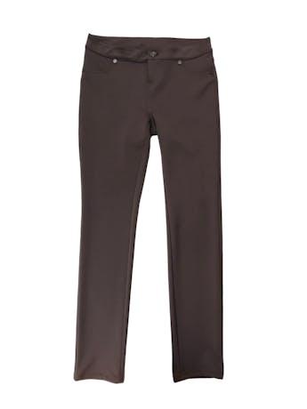 Legging Mentha&Chocolate marrón tela tipo neopreno. Pretina 72cm foto 1