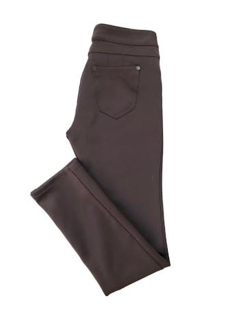 Legging Mentha&Chocolate marrón tela tipo neopreno. Pretina 72cm foto 2
