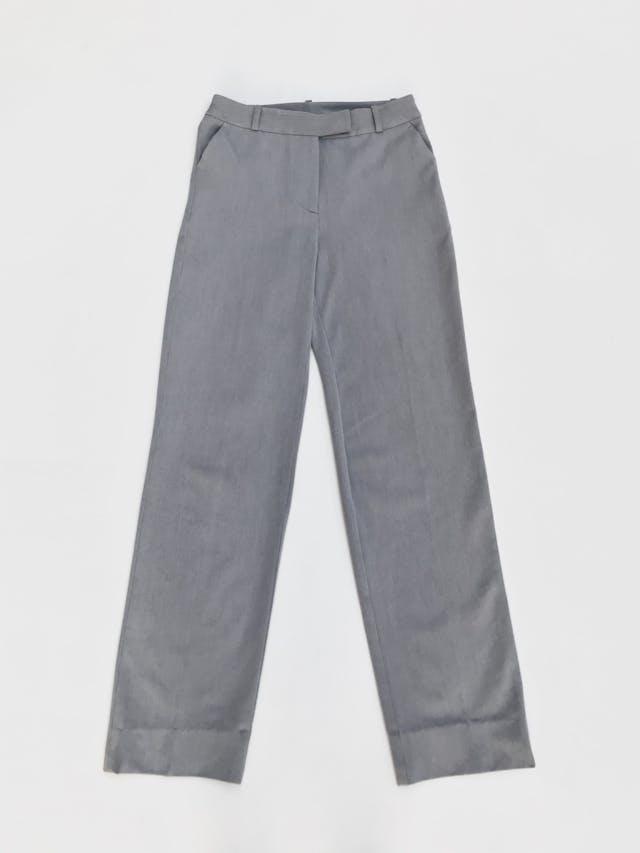 Pantalón plomo tipo sastre al la cintura, 3 bolsillos, corte recto. Arma lindo Talla 26 foto 1
