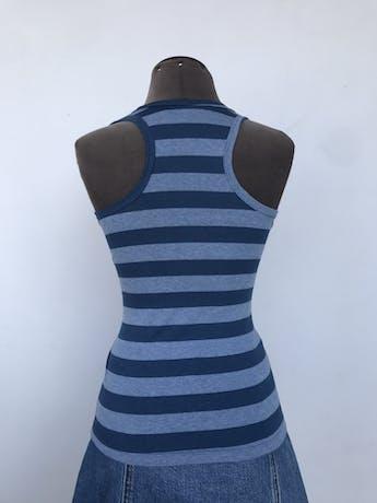 BVD a rayas en tonos azules, tela tipo algodón stretch y espalda olímpica. Talla S foto 2