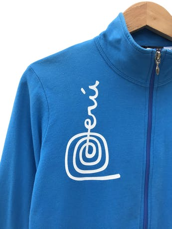 casaca - turquesa, cierre delantero, estampado de la marca peru  - Talla M  - Topitop foto 3