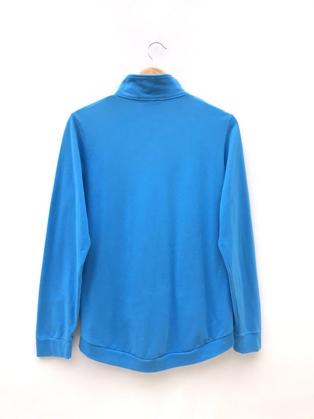 casaca - turquesa, cierre delantero, estampado de la marca peru  - Talla M  - Topitop foto 2