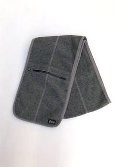 Chalina Gap tipo polar gris con bolsillos con cierre. 20x130 foto 1