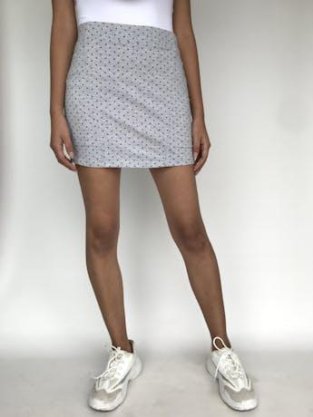 Falda de algodón stretch con puntos grises  Talla S/M foto 1