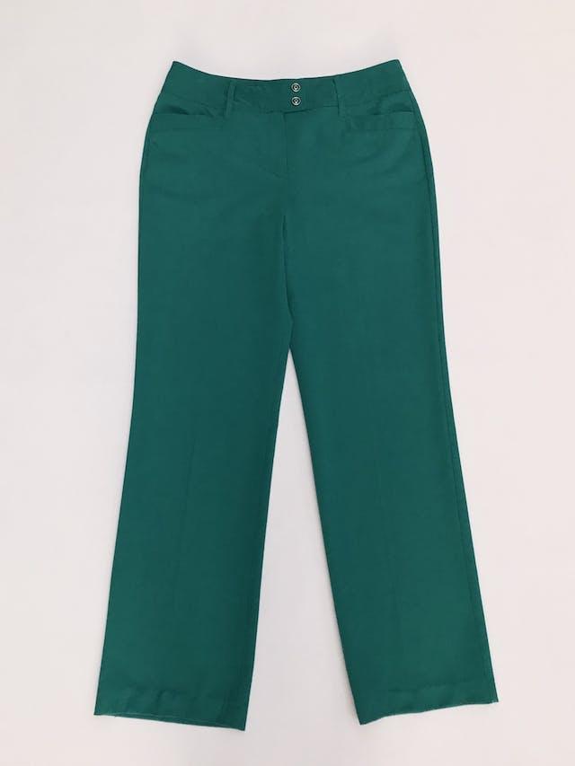 Pantalón verde jade, tela plana no stretch, 4 bolsillos, corte recto. Color hermoso Talla 32 (US10) foto 1