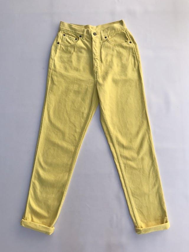 Mom jean Bronco vintage, a la cintura, 100% algodón amarillo, denim grueso,  5 bolsillos, cierre y botón metálico. ¡Super cool! Estado 8.5/10 Talla 28 foto 1