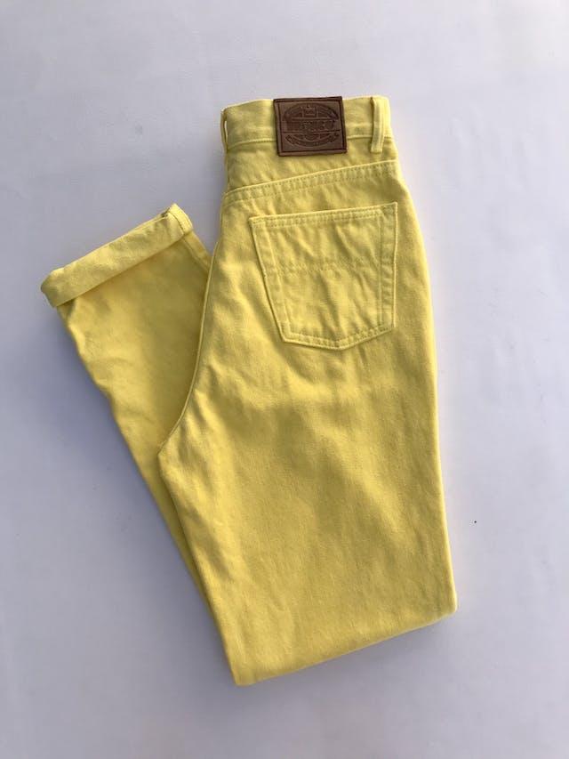 Mom jean Bronco vintage, a la cintura, 100% algodón amarillo, denim grueso,  5 bolsillos, cierre y botón metálico. ¡Super cool! Estado 8.5/10 Talla 28 foto 2