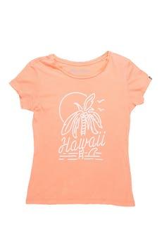 Polo Billabong anaranjado con estampado palmera, 100% algodón foto 1