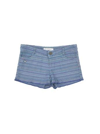 Short RKF tela tipo tweed en tonos azules, bolsillos delanteros y posteriores. Precio original S/ 180 Talla 30 foto 1