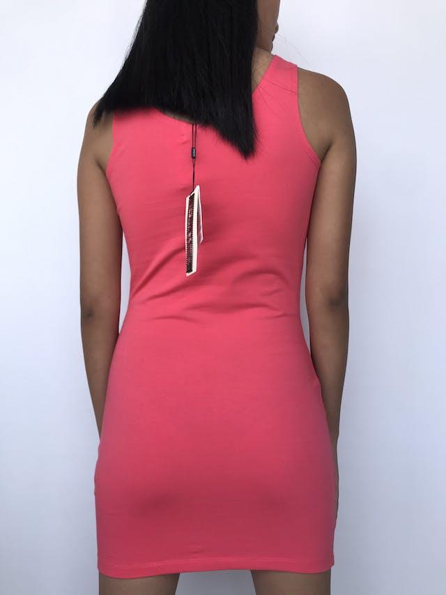 Vestido coral de algodón stretch. Nuevo con etiqueta Talla S foto 2