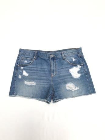 Short Mossimo 100% algodón denim focalizado y rasgado Talla 12 (L) foto 1