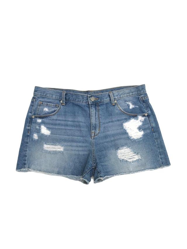 Short Mossimo 100% algodón denim focalizado y rasgadoTalla 12 (L). Pretina 96cm foto 1