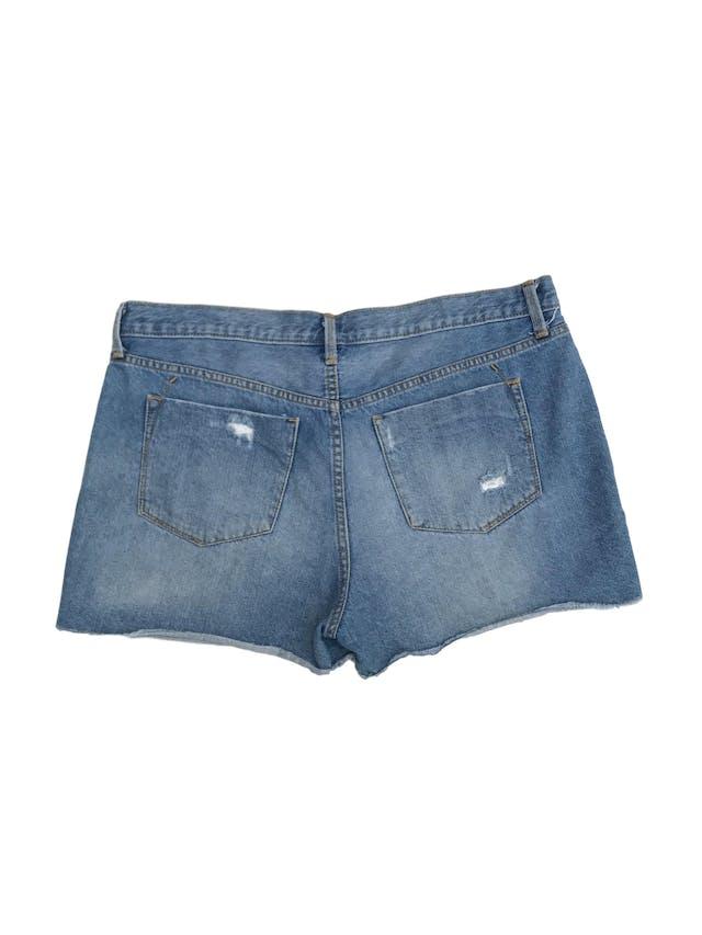 Short Mossimo 100% algodón denim focalizado y rasgadoTalla 12 (L). Pretina 96cm foto 2
