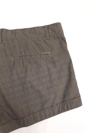Short Scombro 100% algodón marrón tipo cuadros Talla 31 foto 3