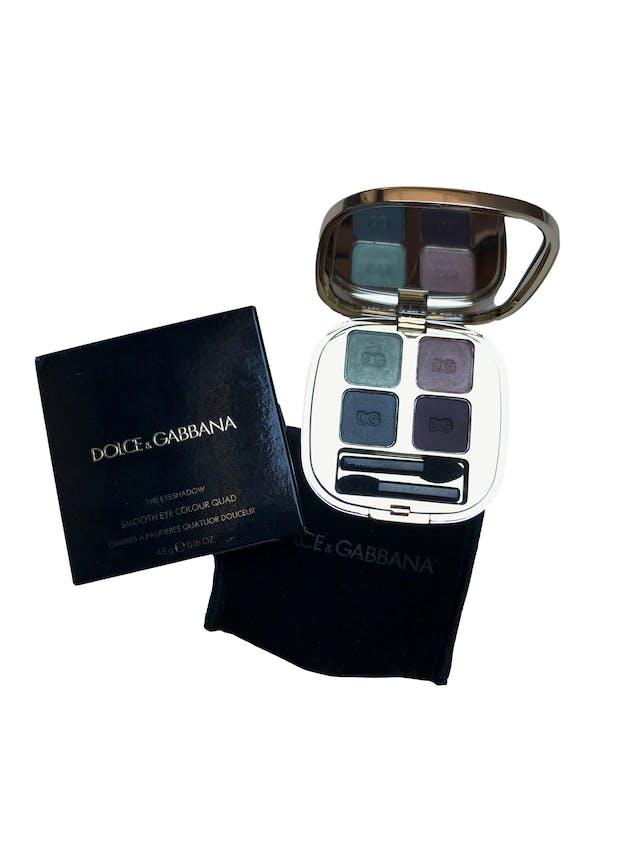 Paleta de sombras Dolce&Gabanna. Smooth eye colour quad 155 - 4202. Nuevo, viene con funda y caja. Precio original S/ 199 foto 1
