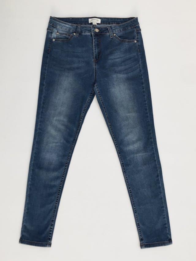 Pantalón University Club, skinny jean stretch, azul claro focalizado, 5 bolsillos Talla 34  foto 1