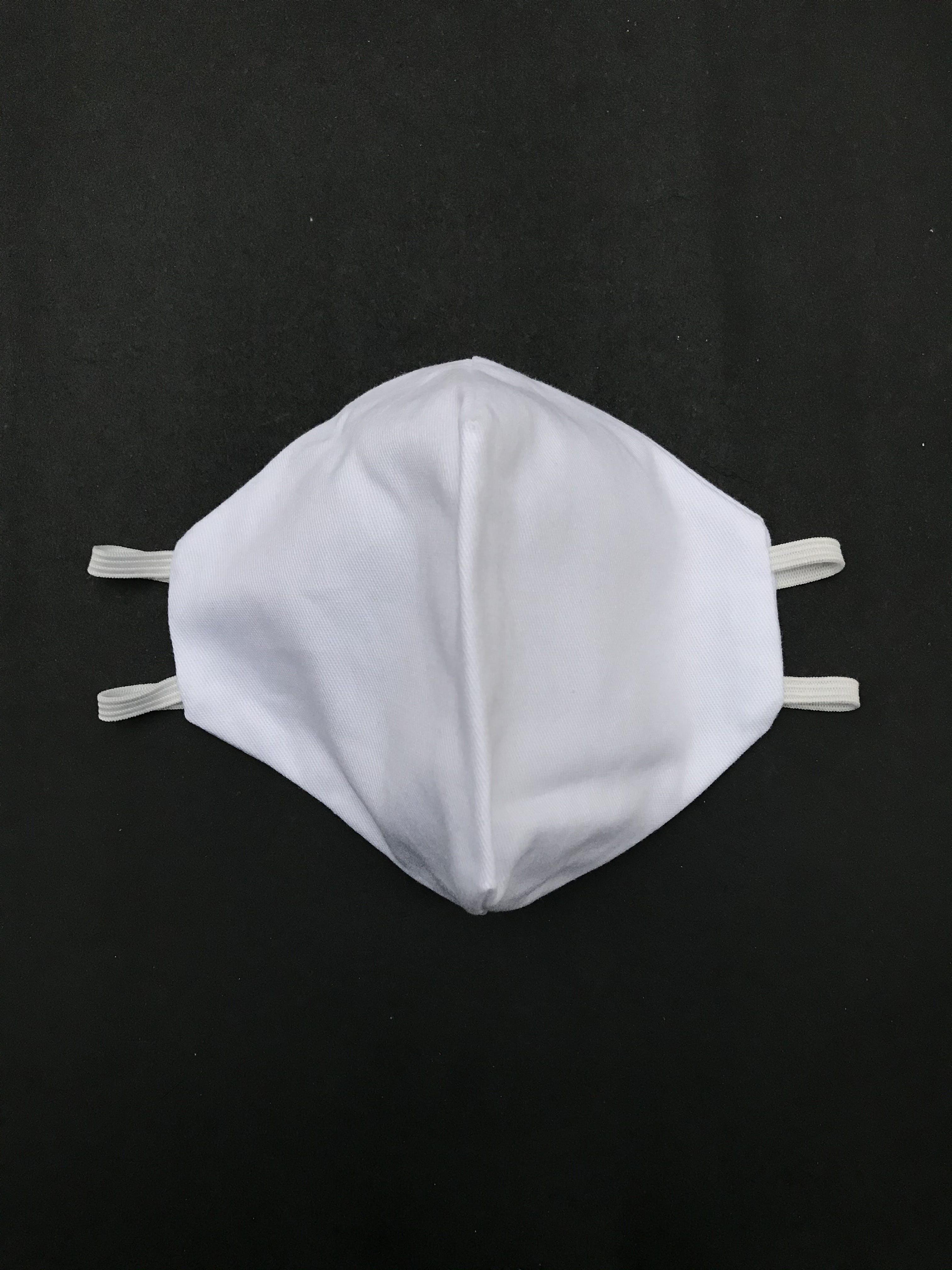 ADULTO - Mascarilla anatómica de doble capa de drill 100% algodón sanforizado, elastico de 3 ligas para la cabeza. Cubre de nariz hasta menton - reutilizable - capa interior 100% algodón antialérgico - resistente al cloro - se recomienda lavar antes de usar