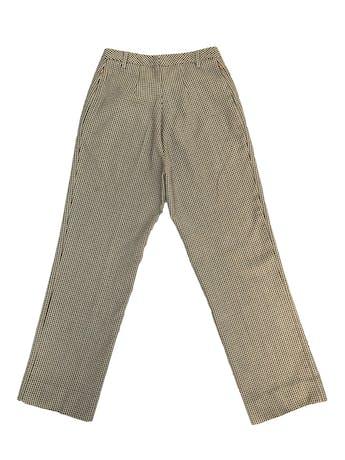 Pantalón Benetton 100% lana a cuadritos amarillos, fucsia y negros, corte recto, bolsillos laterales. ¡Lindo! Precio original S/ 300 foto 3