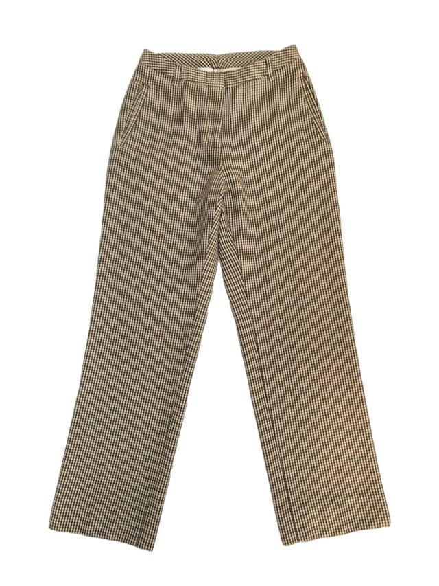 Pantalón Benetton 100% lana a cuadritos amarillos, fucsia y negros, corte recto, bolsillos laterales. ¡Lindo! Precio original S/ 300 foto 1