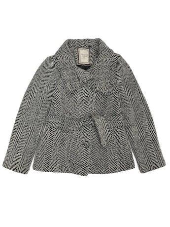 Abrigo Navigata crema y negro 50% lana, forrado, con cinto, botones y bolsillos delanteros foto 1