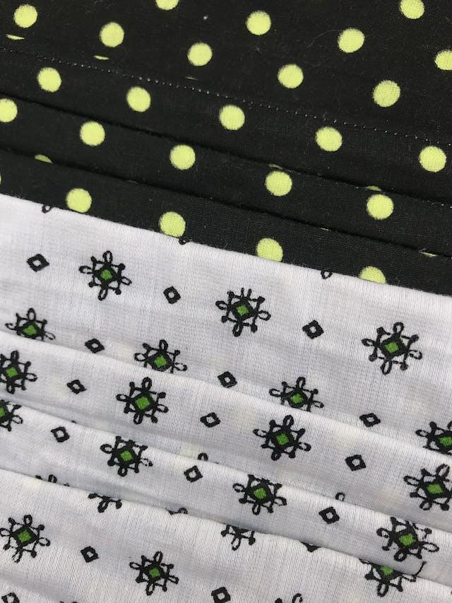 NIÑO - Mascarilla anatómica reversible de doble capa de algodón y filtro notex, elástico de 3 ligas para las orejas. Cubre de nariz hasta mentón - reutilizable - se recomienda lavar antes de usar foto 2
