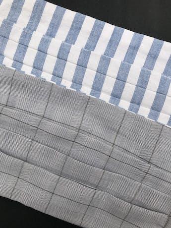 ADULTO - Mascarilla anatómica reversible de doble capa de algodón y filtro notex, elástico de 3 ligas para las orejas. Cubre de nariz hasta mentón - reutilizable - se recomienda lavar antes de usar foto 2