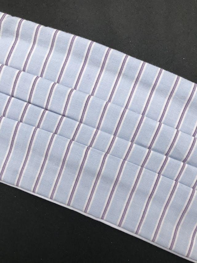 ADULTO - Mascarilla anatómica de doble capa de algodón y filtro notex, elástico de 3 ligas para las orejas. Cubre de nariz hasta mentón - reutilizable - se recomienda lavar antes de usar foto 2