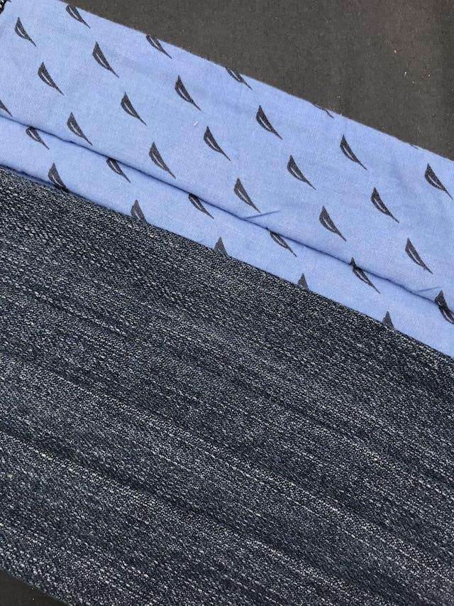 ADULTO - Mascarilla anatómica reversible de doble capa de algodón (delantero denim) y filtro notex, elástico de 3 ligas para las orejas. Cubre de nariz hasta mentón - reutilizable - se recomienda lavar antes de usar foto 2