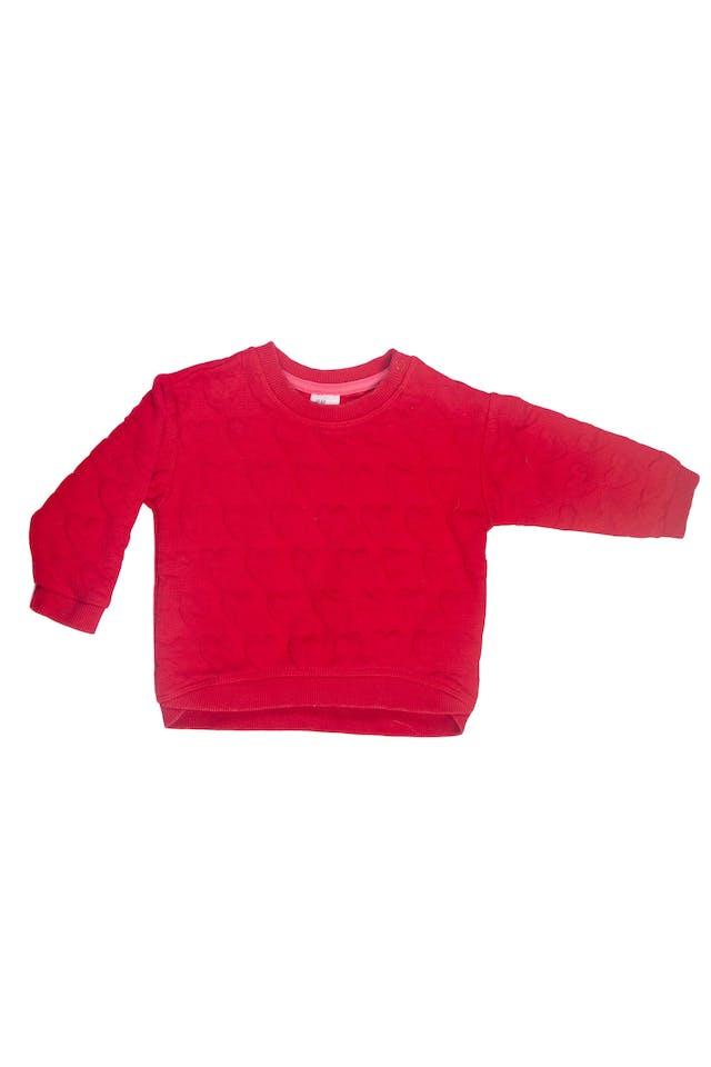 Polera roja, relieve de corazones - H & M foto 1