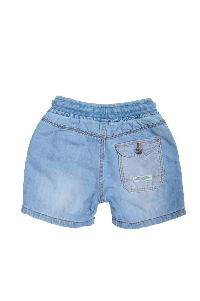 short de jean 98% algodon, elastico en la cintura con cinta para amarrar - Zara foto 2