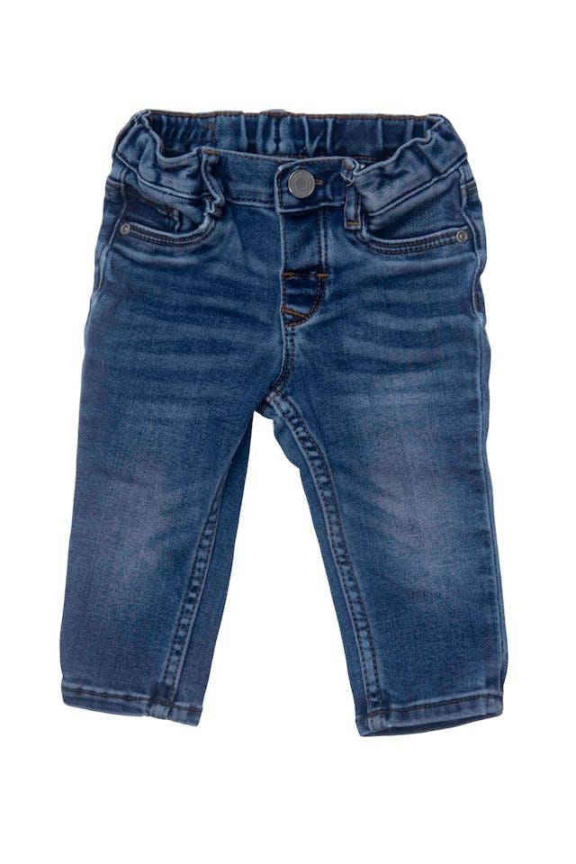 pantalón jean stretch con elastico regulable en la cintura, 80% algodon foto 1