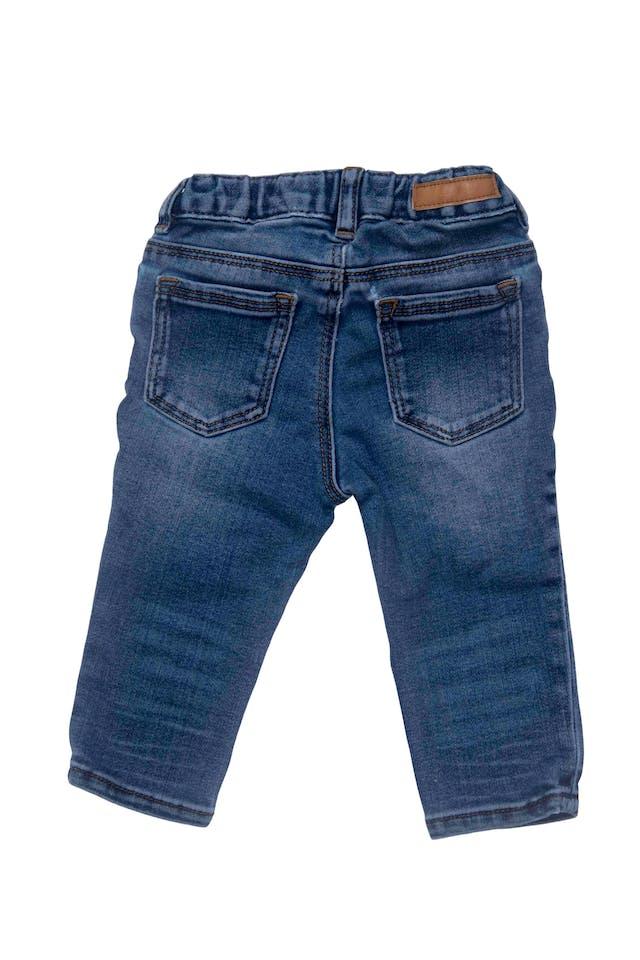 pantalón jean stretch con elastico regulable en la cintura, 80% algodon foto 2