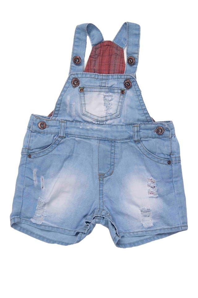 overall short de jean, 78% algodon, tela delgada - Pillerias foto 1