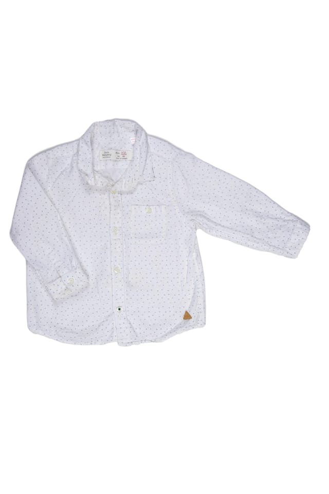 Camisa blanca, tela suave - Zara foto 1