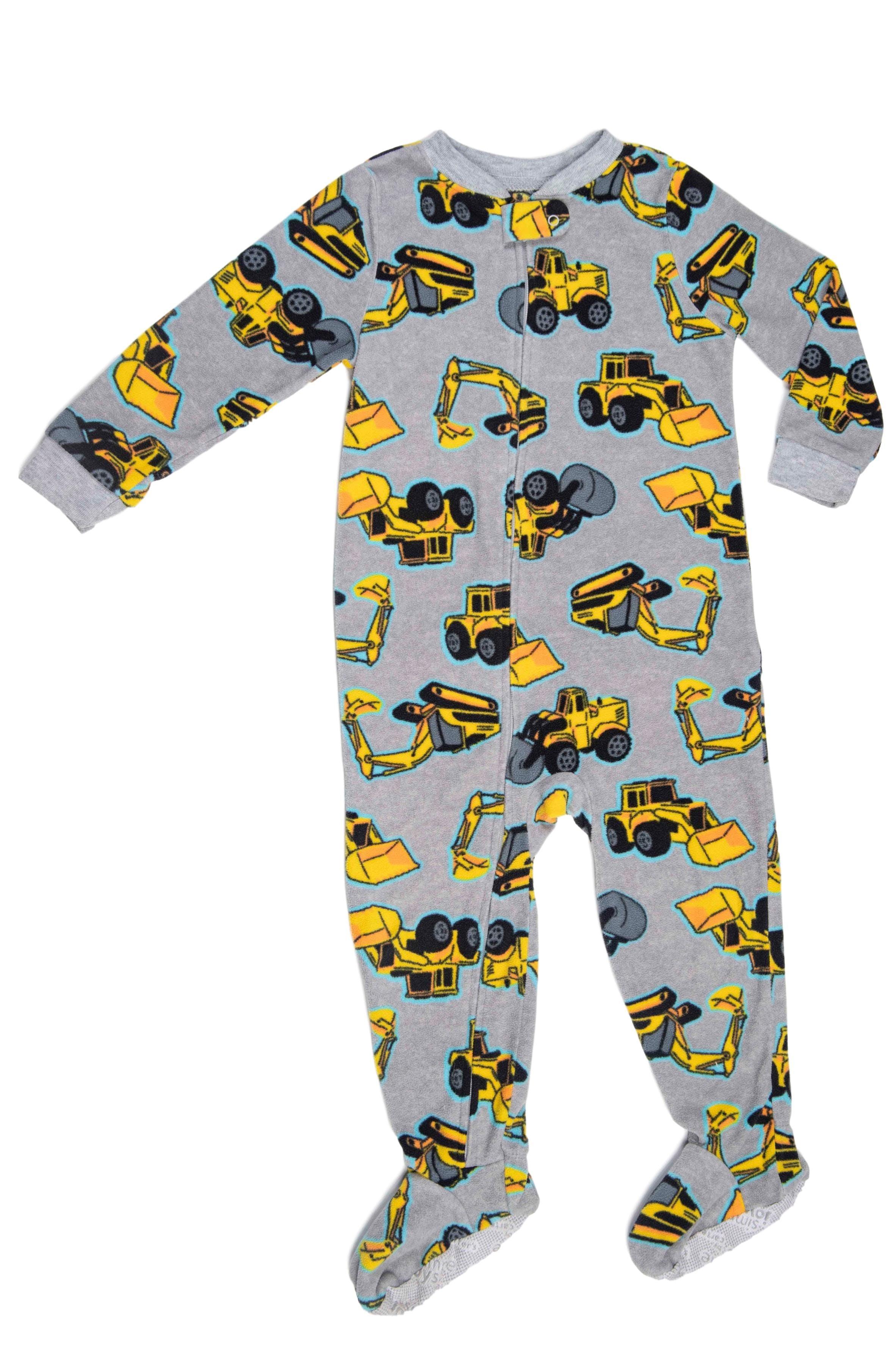Pijama de polar ploma con tractores, suela antideslizante - Carter's