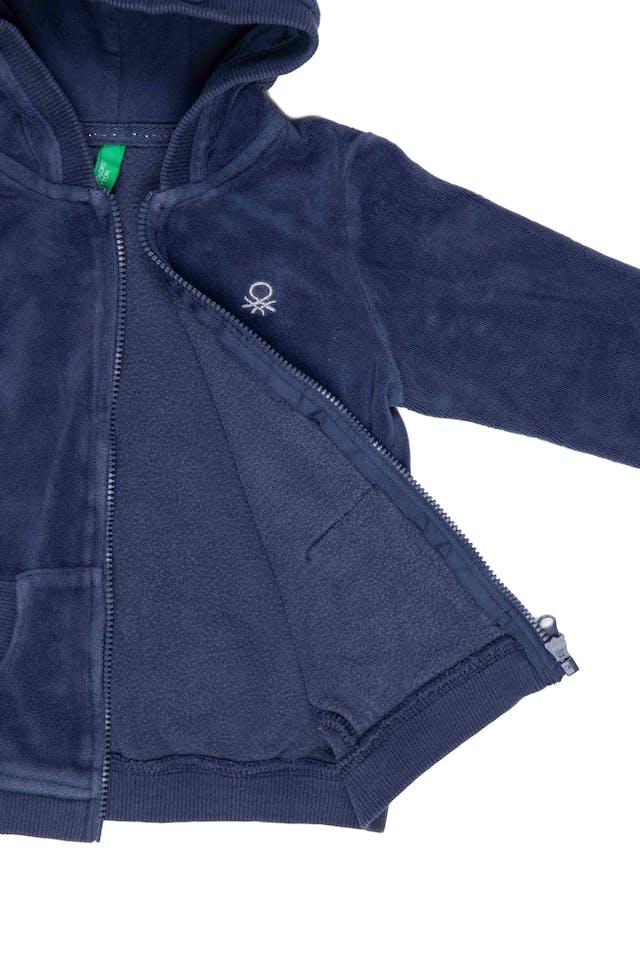 Casaca de plush azul - Benetton foto 2