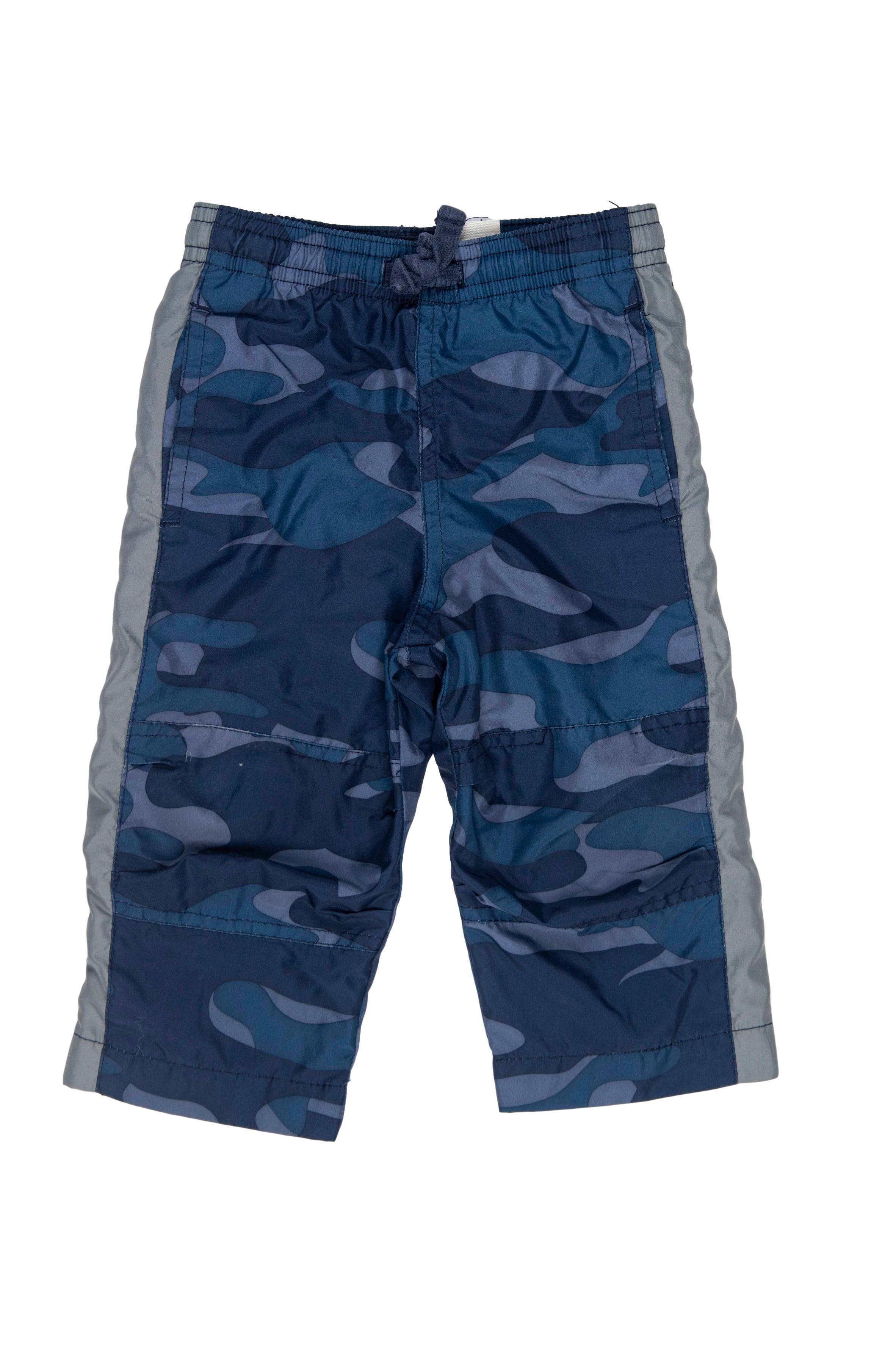 Pantalón buzo estampado camuflado en tonos azules, forrado - OshKosh