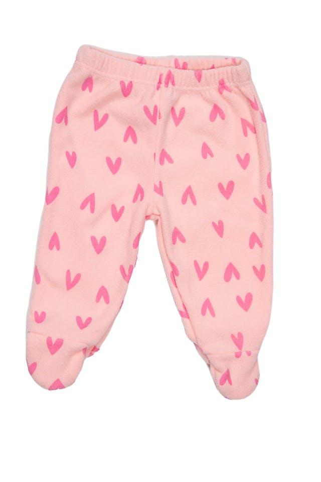 Conjunto rosado de polar, polera con alphaca estampada y pantalón con corazones. - Little Step foto 2