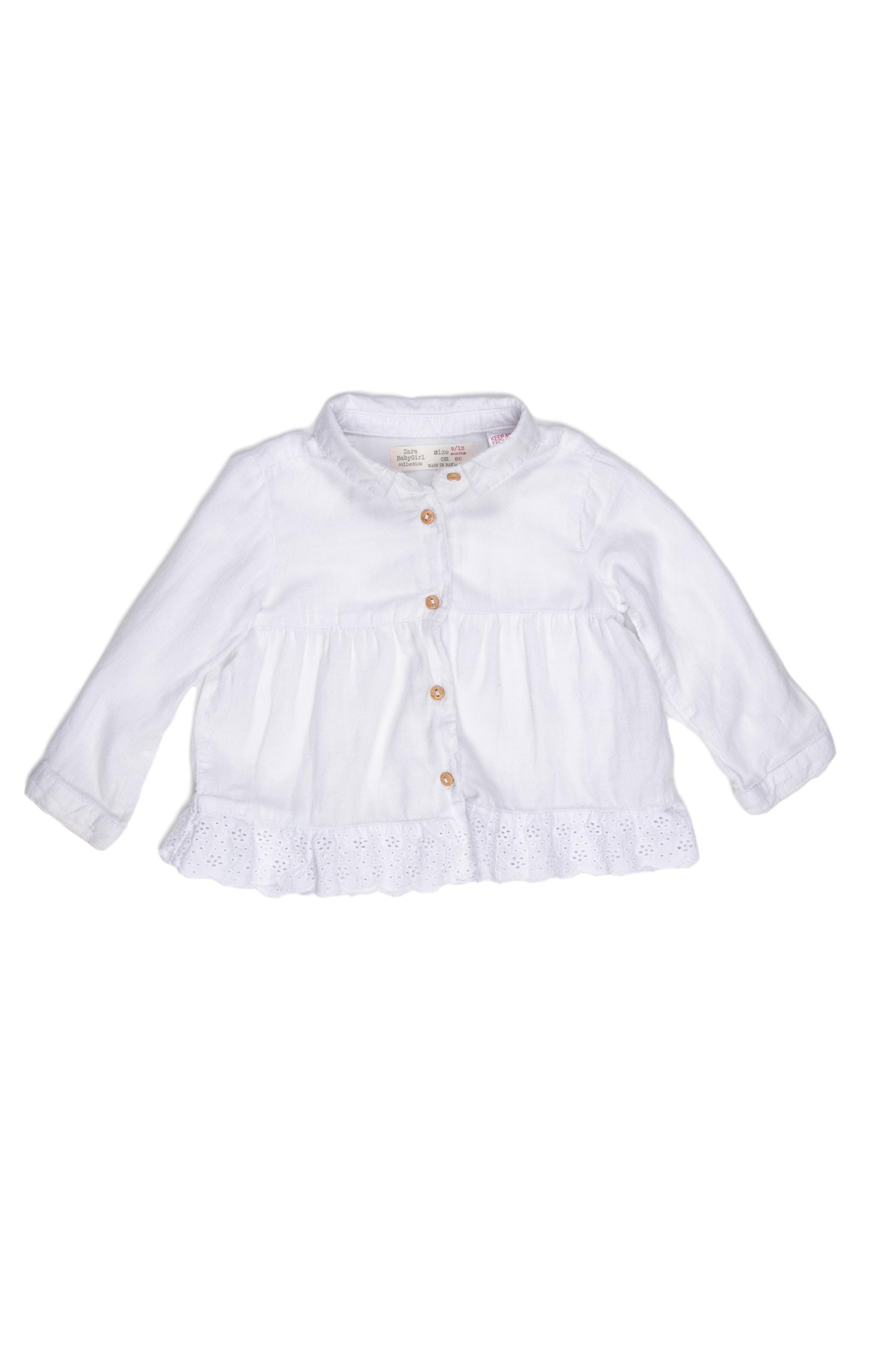 Blusa blanca 100% algodón - Zara