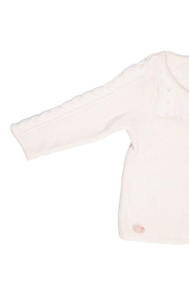 Chompita de media estación, crema con lazo de tela que hace juego con vestido (venta separada). Muy suavecita. Talla 12 en etiqueta - Sergent Major foto 3