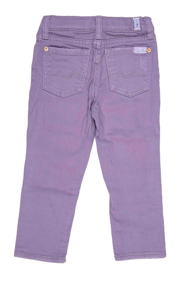 Jean lila elastico interno para ajustar. Precio original S/ 190 - 7 For All Mankind foto 2