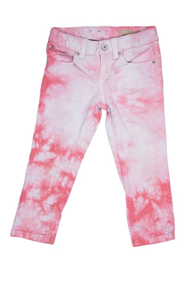 Jean batic blanco y rosa 98% algodón, 2% elastano. Precio original 120 soles - Ralph Lauren foto 1