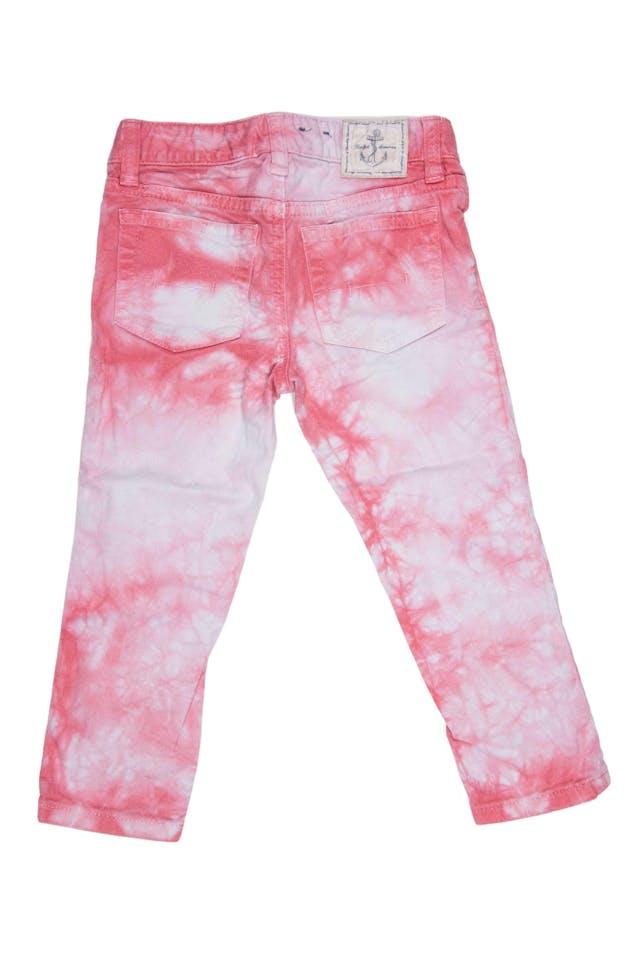 Jean batic blanco y rosa 98% algodón, 2% elastano. Precio original 120 soles - Ralph Lauren foto 2