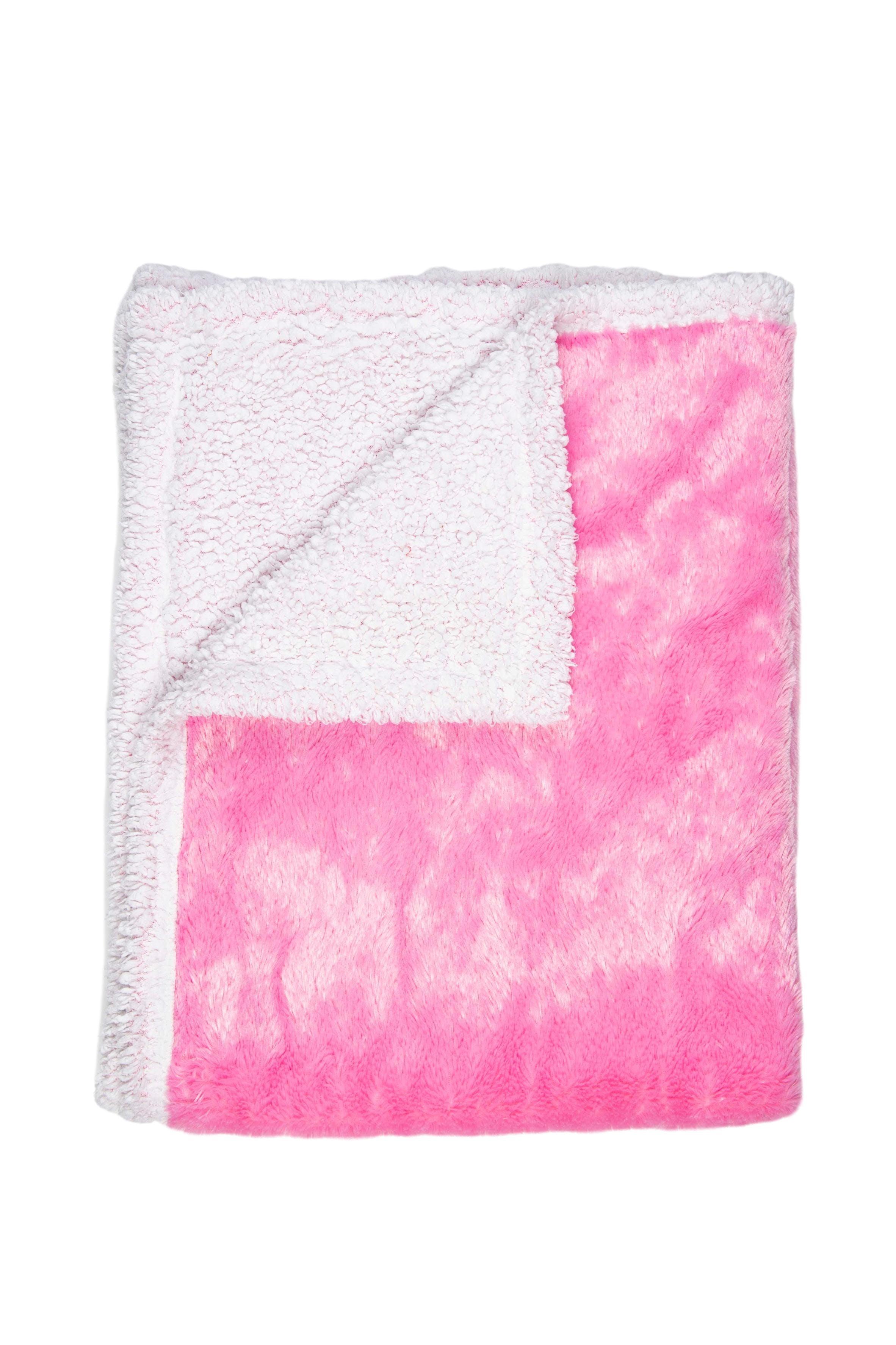 Manta acolchada de peluche rosada y blanca. 75cmx100cm - Casa Joven